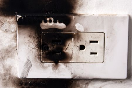 Power blown outlet
