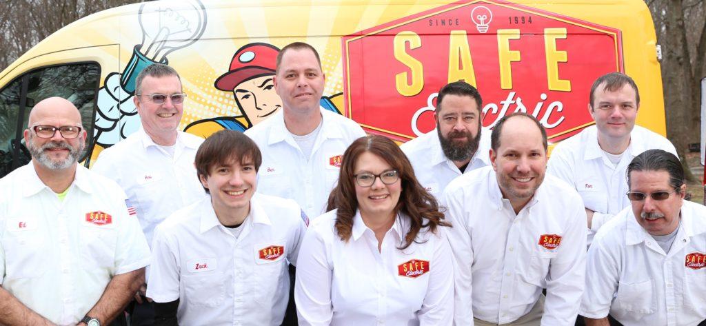 Safe Electric LLC team and van